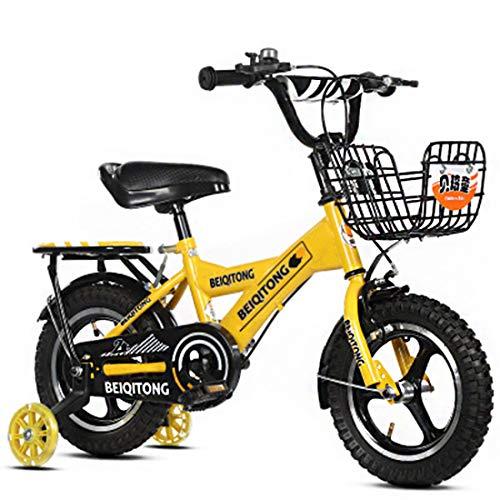 Bici Bimbo Bicicletta per Bambino 12' 14' 16' BMX con Pompa, Campana E Dispositivi di Protezione Set 6 Pezzi,18'