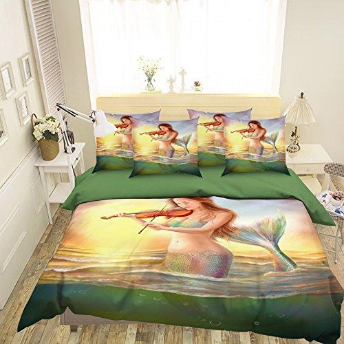Just Contempo Parure de lit avec housse de couette pour lit simple Queen King size Motif mer