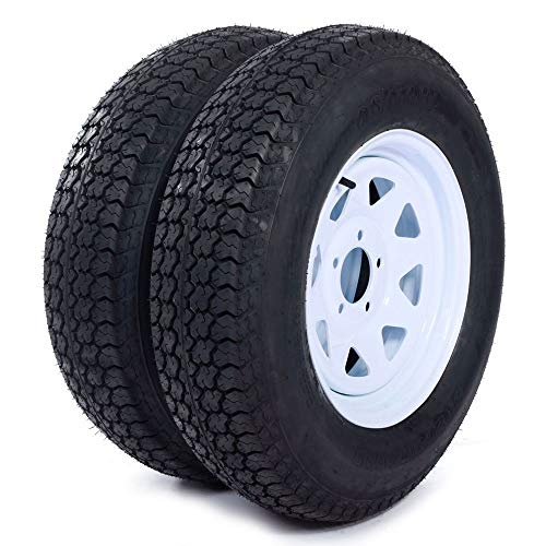 MILLION PARTS Set of 2 15' Trailer Tires Rims ST205/75D15...