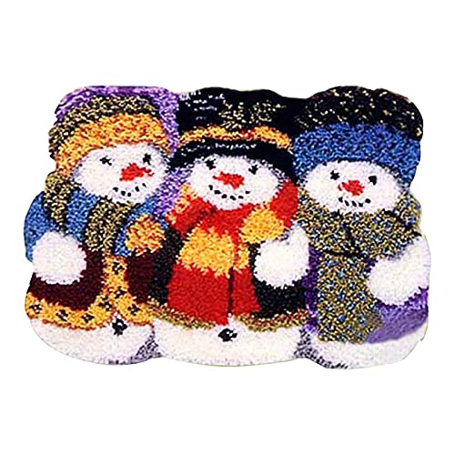 Kits De Alfombra De Gancho De Pestillo para Adultos, Alfombra De Cojín De Navidad En Forma Especial, Bordado De Lana Irregular Decoración del Hogar (Color : B, Size : 52cm X 38cm)
