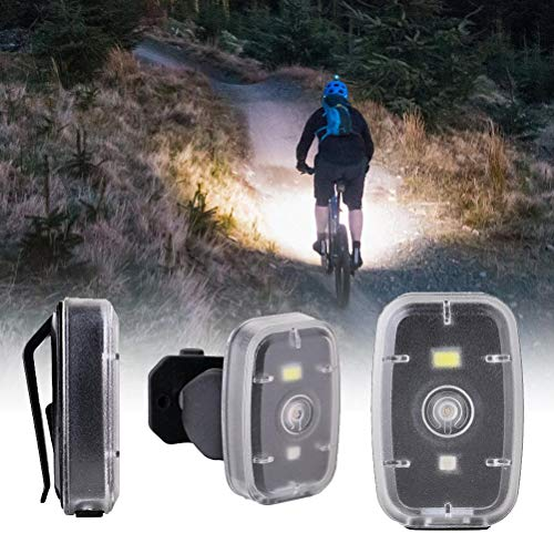 Luz para bicicleta, luces traseras LED para bicicleta Luz trasera para bicicleta de ciclismo Luces de seguridad para bicicletas con carga USB portátil Luz delantera con batería para bicicleta