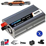 Auto Reiner Sinus Wechselrichter 500W/600W/800W/1000W/1200W/1500W/2000W Spannungswandler DC 12V/24V Auf AC 220V/230V/240V Umwandler - Inverter Konverter mit Steckdose und USB-Port,800W-12Vto110V