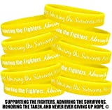 Fight Like a Girl Supporting, Admiring, Honoring Wristband Bracelet for Bladder Cancer Sarcoma -Yellow (10 Pack)