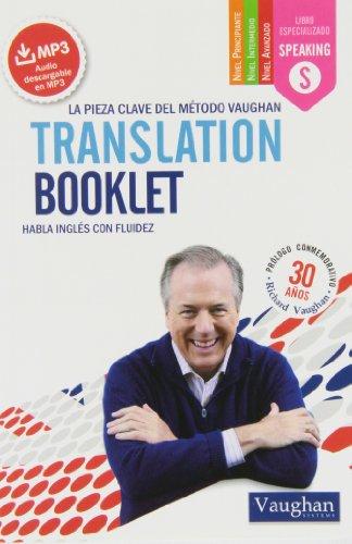 Diseño de la portada del título Translation booklet pocket