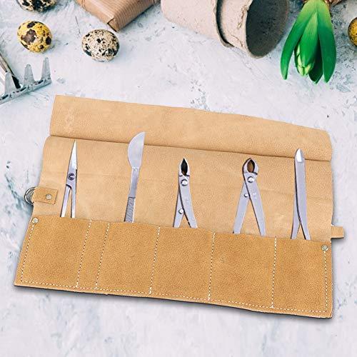 Gartenreparatur-Werkzeugtasche, genug hochwertiges Leder Weiche Hand Gartenwerkzeug-Tasche Leder für Ihre Lieblingswerkzeuge. (Beige)