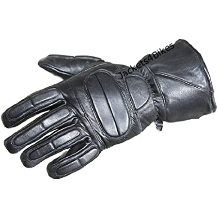 Men Autumn And Winter Thermal Hot Leather Motorcycle Full Finger Warm Gloves