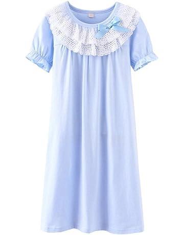 33d0cf6778ffa UNOPRO ネグリジェ パジャマ キッズ 女の子 半袖 夏 綿100% ナイトドレス ルームワンピース ガールズ ルーム