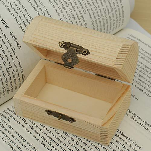 MJJEsports Retro Houten Sieraden Opbergdoos Parel Ketting Armband Desktop Organizer Case Vakantie Gift, Small, 1