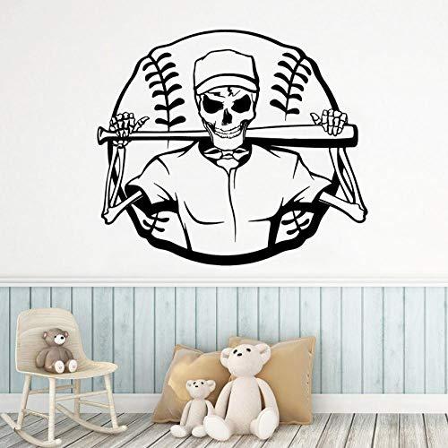 MINGKK - Adhesivo decorativo para pared, diseño de calavera
