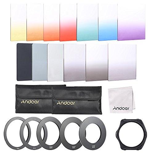 Andoer–13pcs cuadrado gradiente Full Color Kit de filtro para Cokin P Series...