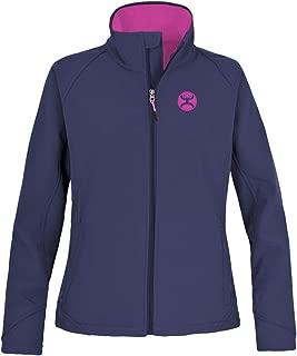 HOOey Ladies Softshell Jacket, Navy w/Magenta