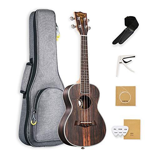 Tenor Ebony Ukulele 26 inch Caramel Ukelele Professional Hawaiian Ukele Little Guitar for Beginner with Package and Strings