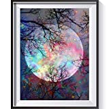 5D DIY Moon ST.Valentine's Day Full Drill Rhinestone Diamond Painting Kits for Home Décor