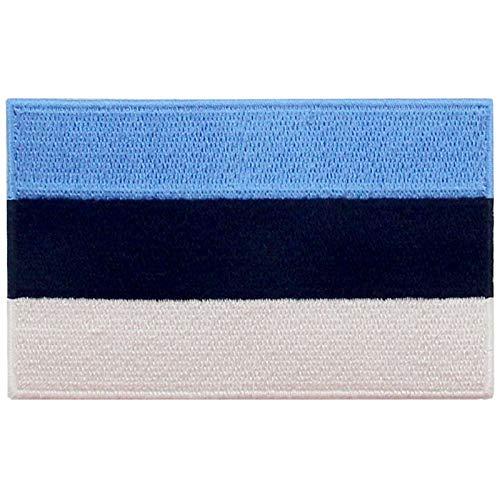 Estland Flagge Bestickter Aufnäher zum Aufbügeln/Annähen
