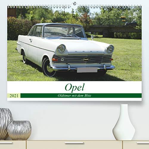 Opel Oldtimer mit dem Blitz (Premium, hochwertiger DIN A2 Wandkalender 2021, Kunstdruck in Hochglanz)