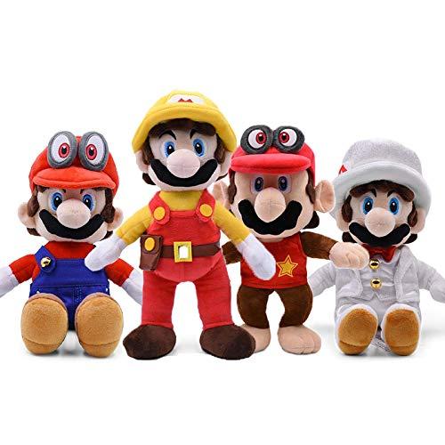 4 Teile/Set super Mario bros plüsch 30 cm Kuchen Puppe, Mario Maker weicher Monkey plüsch Weihnachten Kinder Laimi