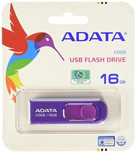 ADATA ME-403771-4 Memoria USB de 16 GB, Interfaz 2.0, Color Morado/Blanco