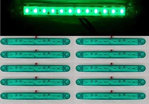 Lot de 10 feux de gabarit latéraux à 12 LED 24 V Vert