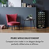 Klarstein Shiraz Uno - Weinkühlschrank, Temperaturen: 5-18 °C, 42 dB, Soft-Touch-Bedienfeld, 6 Regaleinschübe, Platz für 28 Flaschen Wein, Volumen: 74 Liter, schwarz - 3