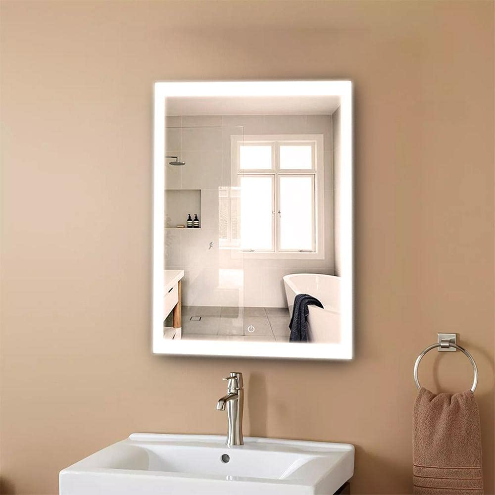 LEDMyplace LED Bathroom Lighted Max 2021 model 75% OFF Mirror Inch Style 24x36 Window