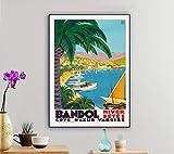 Bandol, Cote D'Azur Varoise Vintage Travel Poster - Poster