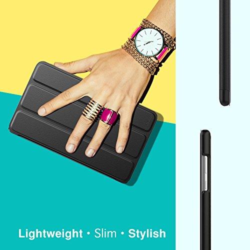 MoKo Huawei MediaPad T3 7.0 Hülle - Ultra Lightweight Slim PU Leder Tasche Schutzhülle Schale Smart Shell Case Cover mit Standfunktion für Huawei MediaPad T3 7.0 Zoll Tablet, Schwarz - 5