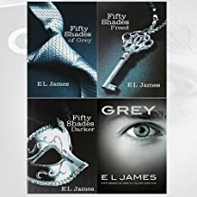 E L James Fifty Shades of Grey Series 4 Books Collection - (Grey Fifty Shades of Grey As Told by Christian, Fifty Shades F...