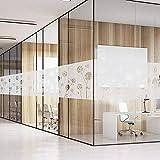 fancy-fix 【Ausverkauf selbsthaftende statische Fensterfolie mit Löwenzahn-Motiv - Milchglasfolie zur Dekoration und Schutz der Privatsphäre 43 x 200 cm