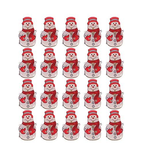 ABOOFAN 25 Piezas de Brillo Navideño Insignias Pin Broche Led Pin de Dibujos Animados Iluminado Insignia Brillante para Mujeres Niñas Camisa Mochila (Muñeco de Nieve Rojo)