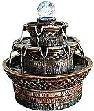 Scultura,Fuente Europea De Feng Shui Artesanía Material De Resina Apertura De Oficina Regalos De Inauguración Sala De Estar Ciclo del Agua Pequeños Adornos Decorativos para La Decoración del Hogar