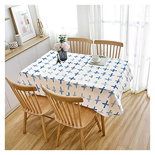 WSZMD Abstracto Azul Impermeable Impermeable Cotting Dinning Tabla Boda Fiesta Rectangular Casa Textil Cocina Decoración, Mantel (Color : A2, Specification : 85x85cm)
