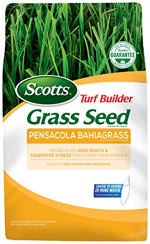 Scotts Turf Builder Grass Seed Pensacola Bahiagrass, 5 lb. - Designed for Full Sun and High Drought Resistance - Seeds Up to 1,000 sq. ft.