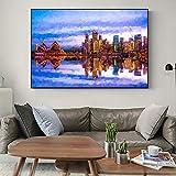 YHZSML Resumen Sydney Opera House Seascape Pinturas murales London Tower Bridge Carteles e Impresiones Modern Home Decor Pictures 40x60cm
