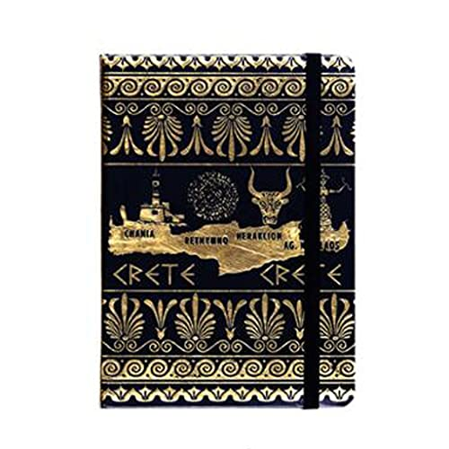 HYAN Cuadernos de autoayuda Cuaderno Diario de Cuaderno Tapa Dura Notas de Negocios Estampado con Bronceado Dowling Papel 96 Hojas de Papel (Color : Black)