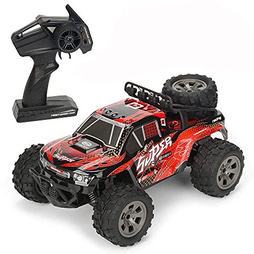 Decoración del hogar Modelo 1/18 Off-road Control remoto Coche 2.4G Radio Drift RC Vehículo Todo terreno Escalada RC Buggy Coche de carreras RC de alta velocidad que absorbe los golpes para niños y
