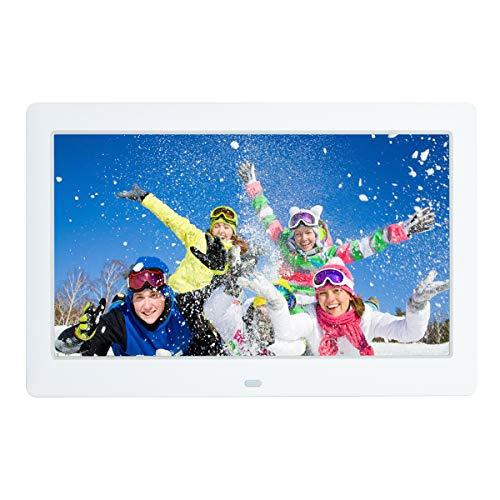 10,5 Zoll Digitaler Bilderrahmen 1080x720P Musik Foto Video Player mit Fernbedienung 4 Fenster Display/Multi-Slideshow/Kalender/Uhr Alarmfunktion Elektronische Bilderrahmen
