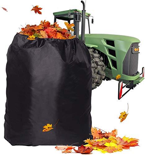 DJDL Bolsa de Hojas para Tractor de césped, Resistente de 54 CU. Ft Bolsas de Hojas de cortacésped de jardín de Apertura de 100 Pulgadas, Bolsa de Hojas de Ajuste Universal para Montar cortacésped