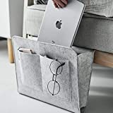 Bolsa de cama, organizador de sofá | fieltro grueso antideslizante para mesita de noche para libros, revistas, iPad, teléfono móvil, mando a distancia