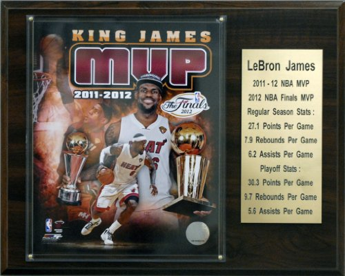 C&I Collectables NBA 12'x15' Lebron James Miami Heat 2011-12 MVP Plaque