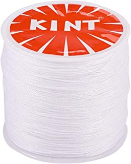 PandaHall Elite 1 Roll 0.5mm Round Waxed Polyester Cord Thread Beading String 116 Yards per Roll Spool for Jewelry Making and Macrame Supplies White