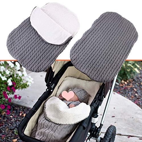 Manta de Cochecito de Bebé, Saco de Dormir Universal para Bebé Carrito Cochecitos Silla de Bebés (gris)