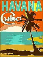 ERZAN1000ピース木製パズルキューバキューバハバナカリブ島レトロ旅行広告芸術減圧ジグソーおもちゃキッズギフト