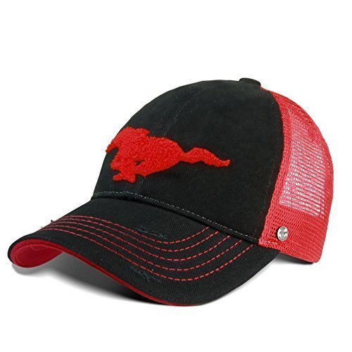 Ford Lifestyle Collection 35021313 Casquette avec logo Ford Mustang - Rouge et noir