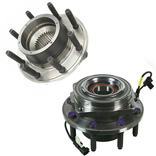 Detroit Axle - 4x4 DRW Front Wheel Hub and Bearing Assemblies Replacement for 2011-16 Ford F-250 F-350 Super Duty - 2pc Set