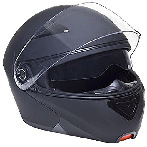 Klapphelm Integralhelm Helm Motorradhelm RALLOX 109 schwarz/matt mit Sonnenblende (S, M, L, XL) Größe L - 4