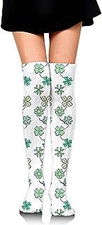 Jesse Tobias, Calcetines hasta la rodilla Calcetines largos del día de San Patricio Calcetines de compresión de media de arranque para mujeres SOCKS-0166