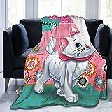 Aristo-Cats Ma-Rie - Manta de forro polar ultra suave para sofá cama