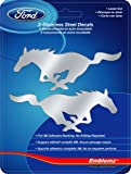 Chroma Graphics 1201 Emblemz Silver 6' x 8' Ford Mustang Logo Stainless Steel Decal