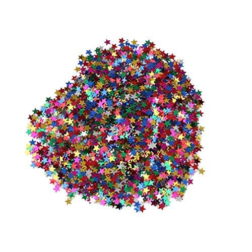 Sharplace 2X Stern Konfetti Geburtstag Tischdeko Baby Shower Dusche Streuartikel Dekoration aus PVC