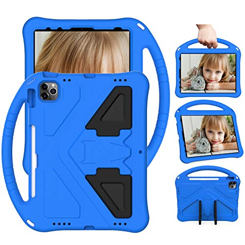 XunyLyee Compatible with iPad Air 2020 Case, Shockproof Handle Stand Lightweight Cover Kids Case for iPad Air 2020 / iPad Air 4 10.9' - Blue